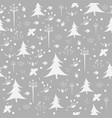 seamless wintermerry christmas pattern vector image
