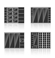 set black silhouettes cupboards vector image vector image