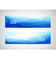 set of abstract wavy horizontal headers vector image vector image