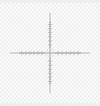 sniper scope crosshairs with tick marks icon vector image