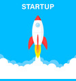 startup business concept rocket or rocketship vector image