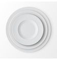 tableware set plates top view table setting vector image vector image