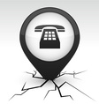 Telephone black icon in crack vector image vector image