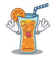 tongue out cocktail character cartoon style vector image vector image