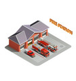 transport realistic isometric composition vector image
