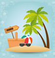 tropical beach summer scene vector image vector image