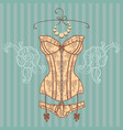 vintage sexy guipure corset vector image vector image