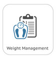 weight management flat icon vector image vector image
