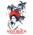 west beach vector image