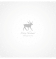 White and gray deer Christmas background vector image vector image