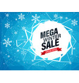 winter mega sale best offer vector image vector image