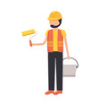 worker construction tool vector image