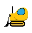 Yellow toy tractor icon vector image vector image