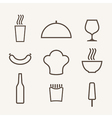 Food Icon set Outline vector image