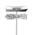 new and old indicator isolated on white vector image