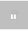 Bad factory computer symbol vector image
