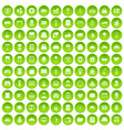 100 hotel icons set green circle vector image vector image