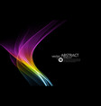 abstract shiny color spectrum wave design element