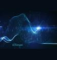 abstract virtual digital wave of binary code vector image vector image