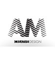 am a m lines letter design with creative elegant vector image vector image