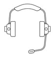 audio headset vector image