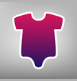 baby cloth purple gradient vector image vector image