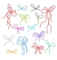 Bakers twine bows set vector image vector image
