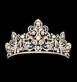 beautiful female diadem with precious stones vector image vector image