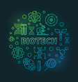 biotech colorful round outline vector image vector image