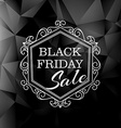 black friday sale in vintage floral style vector image vector image