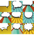 blank comic balloon set template clear comics vector image