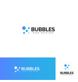 bubbles logo set sparkling mineral water logotype vector image vector image