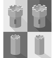 Castle Set vector image vector image