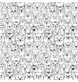 cats cartoon seamless wallpaper vector image vector image