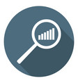 chart icon increase schedule in magnifier vector image