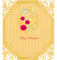 Christmas bird with decorative balls vector image