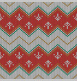 christmas knitted pattern geometric abstract vector image