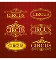 Circus vintage badges set vector image vector image