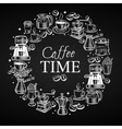 Coffee time banner vector image