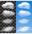 collection cloud symbols vector image vector image
