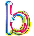 Colorful Grunge font Letter b vector image vector image