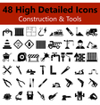 Construction and Tools Smooth Icons vector image