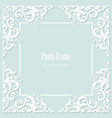 decorative square frame on pastel blue vector image vector image