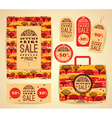Design set for autumn sale vector image vector image