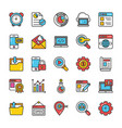 digital and internet marketing icons set 6 vector image vector image