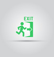 emergency exit green sign with man silhouette vector image vector image