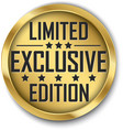 exclusive limited edition gold label vector image vector image