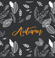fall autumn season with vector image vector image