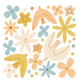 gentle birds and flowers composition vector image vector image