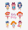 girls kids party vector image